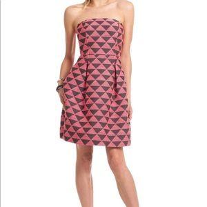 Trina Turk Strapless Geometric Dress